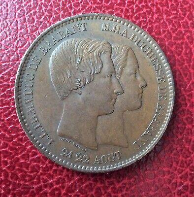 Belgique - Léopold Ier- Superbe module 10 Centimes 1853 - Mariage Duc de Brabant