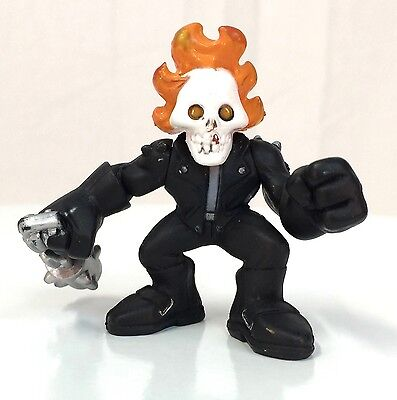 Marvel Super Hero Squad GHOST RIDER Variant with orange Flames on Head
