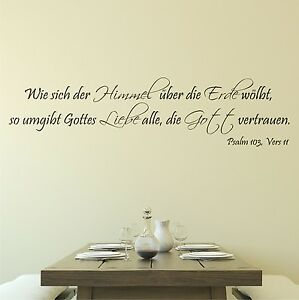 Ciel amour psalm dieu sticker mural 110cm couloir texte dicton salle manger - Stickers pour couloir ...