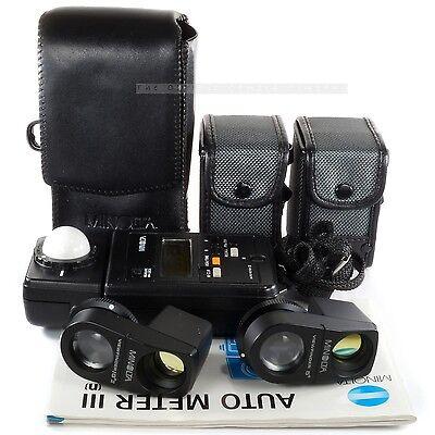 Minolta Auto Meter III with Viewfinder 5° & 10° Bornica Hasselblad Mamiya Leica