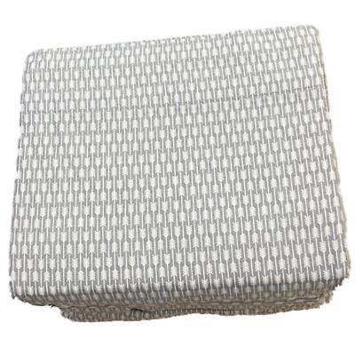 gray arrow stripe flannel sheet set full