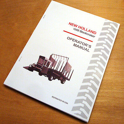New Holland 1049 Stackcruiser Bale Wagon Operators Owners Book Guide Manual Nh