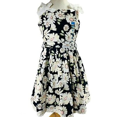 The Childrens Place Dress Size 6 Daisy Sleeveless Fit n Flair Fully Lined NWT
