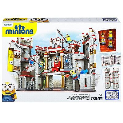 Mega Bloks Despicable Me Castle Adventure Fully Buildable Castle, MAT-CNT39 New