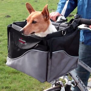 Bike Dog Carrier Robust Cycle Basket Pet Car Seat Easy Travel Older Dog Journey