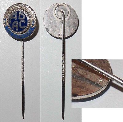 Emaillierte Anstecknadel Ehrennadel ADAC Gau Südbayern / Silber 935