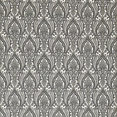 Wallpaper Black white gray India Damask pattern wall coverings textured rolls 3D