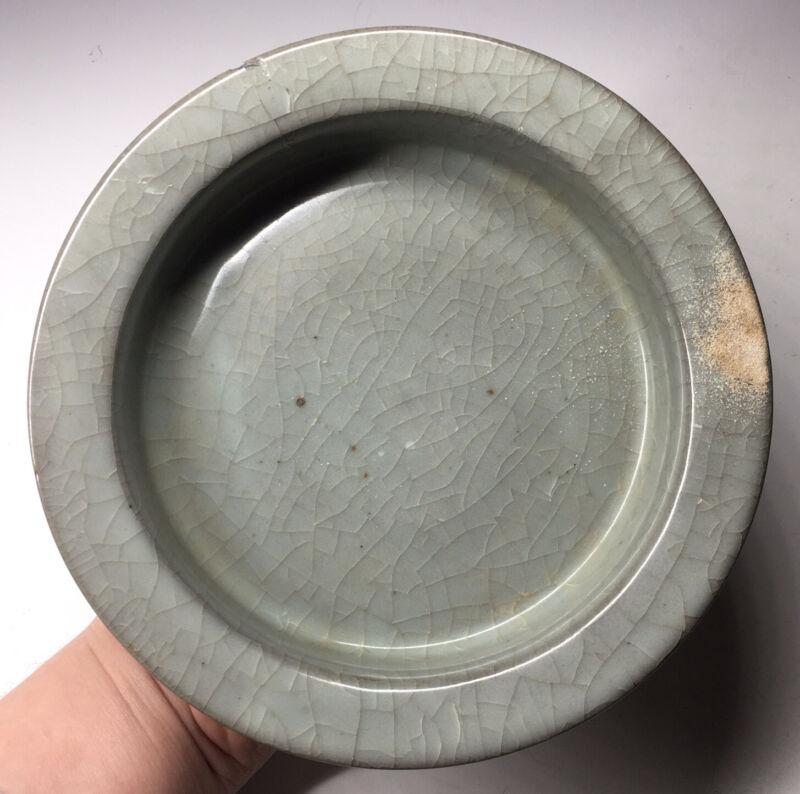 Antique Chinese Song Style Ru Crackle Glaze Censer Incense Porcelain Pottery