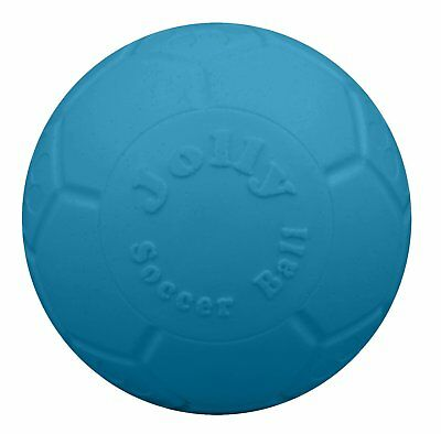 Jolly Pets Soccer Ball Blue 6 inch | Unscented Rubber Chew Toy for Dogs - Rubber Soccer Ball