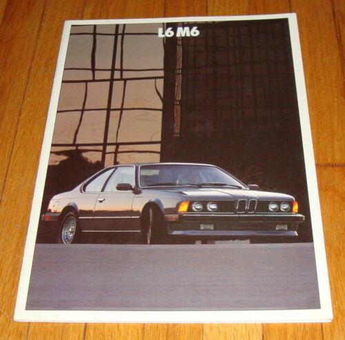 Original 1987 BMW L6 M6 Sales Brochure