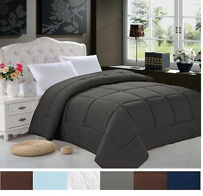Goose Down Alternative Reversible Comforter - All Season Blanket - One Piece