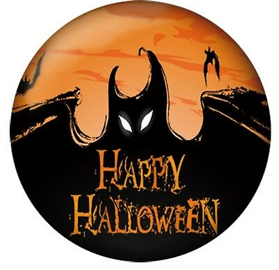 Black Orange Bat Happy Halloween Scary Enamel 20mm Snap Charm for Ginger Snaps
