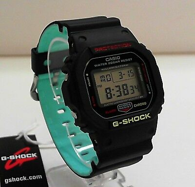 New Casio G-Shock DW-5600CMB-1 Black/Light Blue Inner Layer Watch  for sale  Shipping to Canada