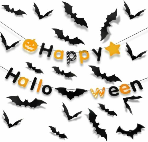 120 Pack Halloween 3D Bats Decoration Scary Bats Wall Decals Stickers Decor