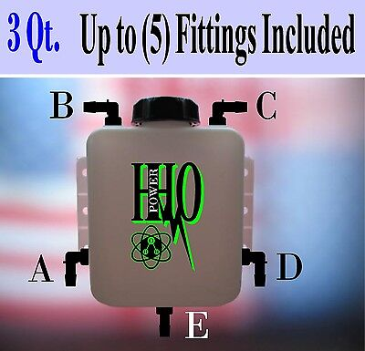 Reservoir Fittings Kits /& Accessories; HHO Deluxe Bubbler Dry Cell