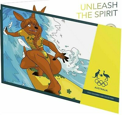 2020 'SURFING ROO' OLYMPIC GAMES  5-COIN FOLDER SET