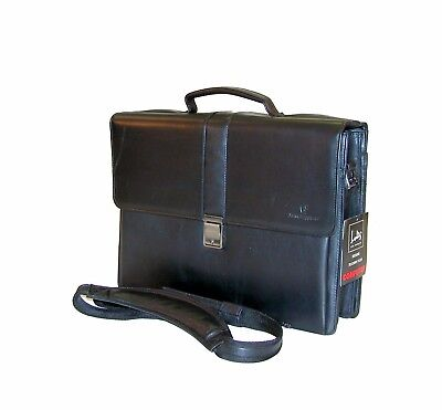 LODIS Cowhide Leather Metropolitan Lawyers, Mangers Flap Over Computer Briefcase - Flap Over Computer Briefcase