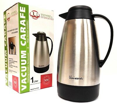 2416 Stainless Steel  Coffee/Tea Carafe Vacuum Thermos  with Temperature Gauge