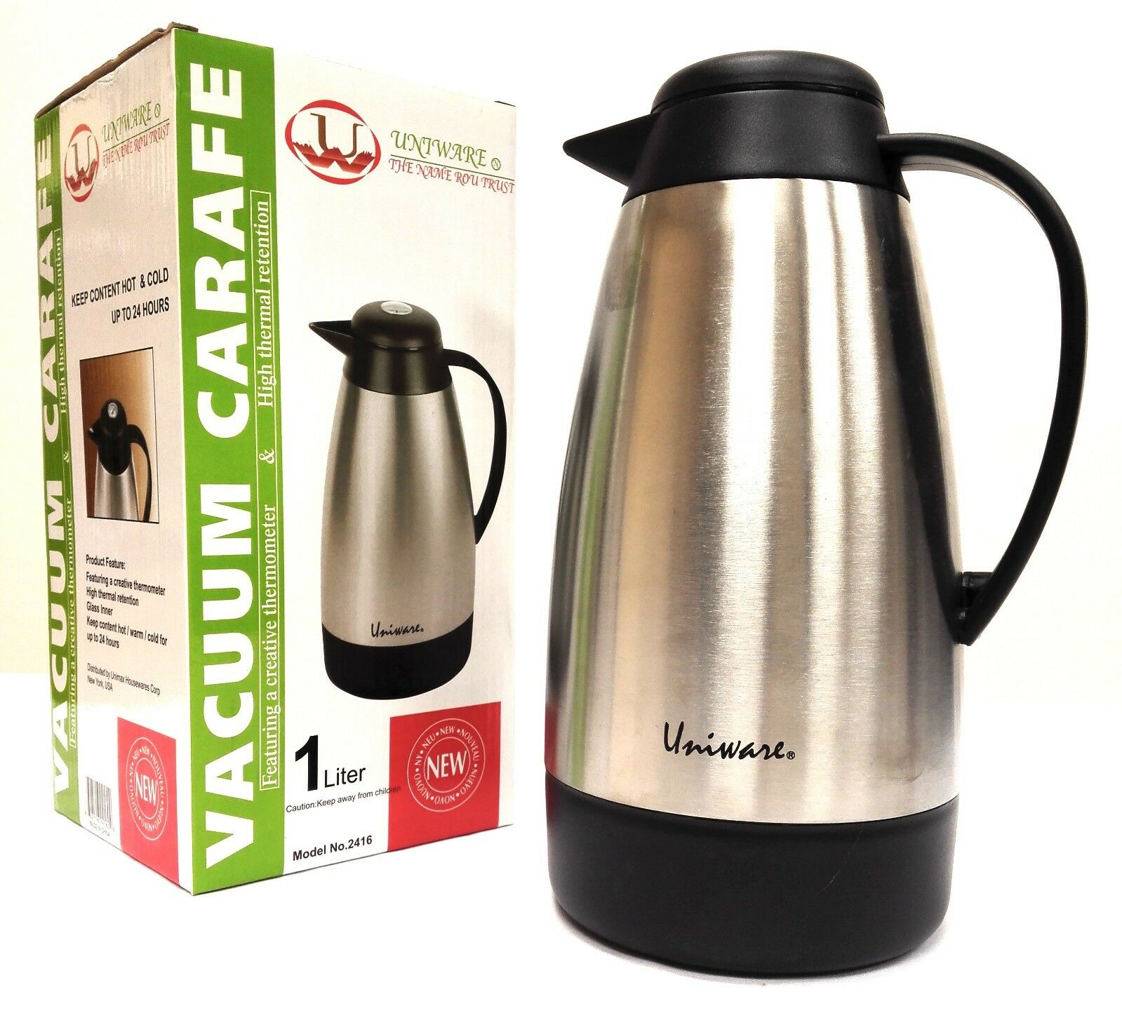 2416 stainless steel coffee tea carafe vacuum