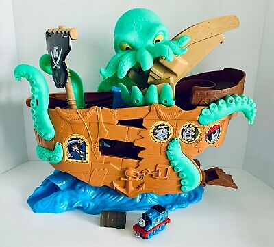 Thomas & Friends Fisher-Price Adventures, Sea Monster Pirate Ship Set, Toy, EUC!