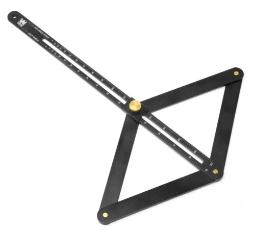 WEN ME360P Aluminum Miter Saw Bevel Gauge & Corner Angle Finder for Woodworking