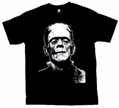 FRANKENSTEIN T-shirt Horror Movie Scary Monster Tee Adult Men   Black (Horror Tee T-shirt)