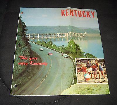 Vintage 1960s Kentucky Vacationland Travel & Tourism Brochure