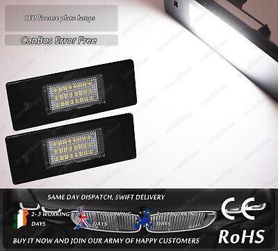 White Canbus LED License Licence Plate Light For BMW E87 E63 E89 Mini Cooper R55 for sale  Ireland