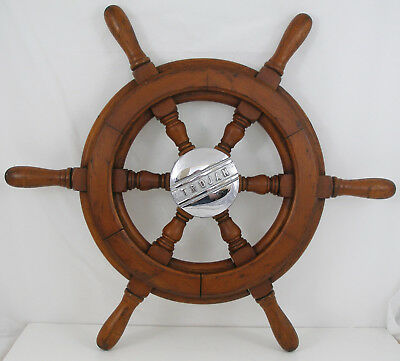 Antique salvaged Trojan Helm Wheel  Ship wheel   19.5