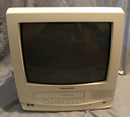 """Panasonic 14"""" Tv VCR Combo With Remote, Gaming T.v. Tested. PVQ-130WA"""