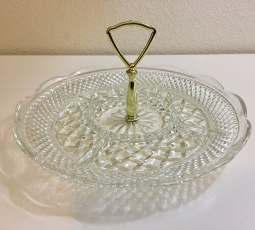 Vintage Wexford Relish Divided Tidbit Serving Tray