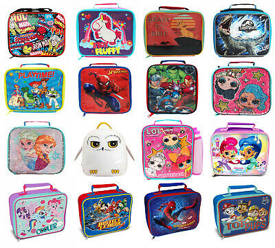 Childrens Kids Character Novelty Insulated School Lunch Bag Dinner Food