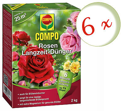 Savings Set: 6 X Compo Roses Long-Term, 2 KG