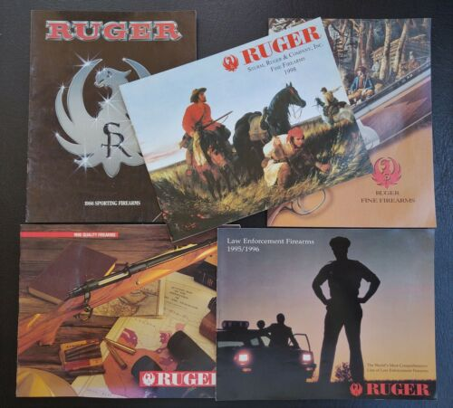 Ruger Firearms Catalogs 1986-1998 w/ Price Lists & Guide