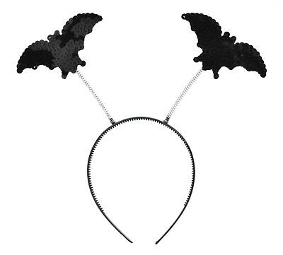 Halloween Horror Schwarz Fledermaus Boppers Auf Stirnband Kostüm Vampir Zubehör