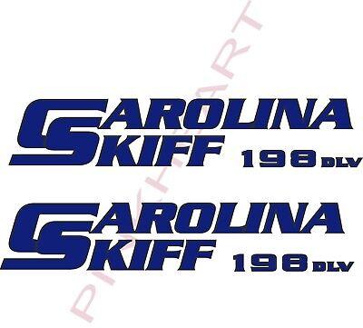 carolina 198 DLV skiff Boat outline Decals Graphics Sticker Decal Stickers  USA