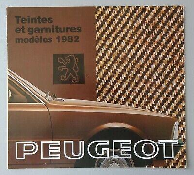 S004 PEUGEOT 104 305 504 505 604 - COLOR BOOK - 1982 - 22x22 - FR
