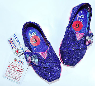 Skechers Lil Bobs Glitter Gal Memory Foam Shoes For Toddler (Blue/Pink)