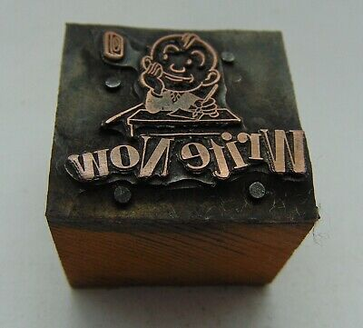 Vintage Printing Letterpress Printers Block Write Now