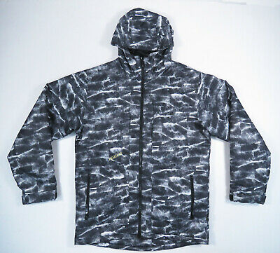 Ripzone Core 5000mm Mens Black White Thechnical Hooded Ski Snowboard Jacket L