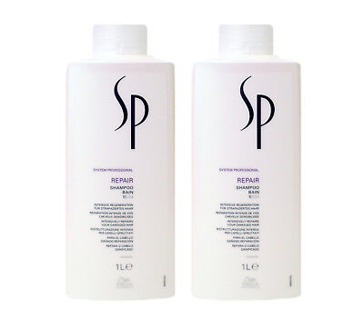 Wella SP Repair Shampoo 2x 1000ml System Professional (Sp Professional Shampoo)