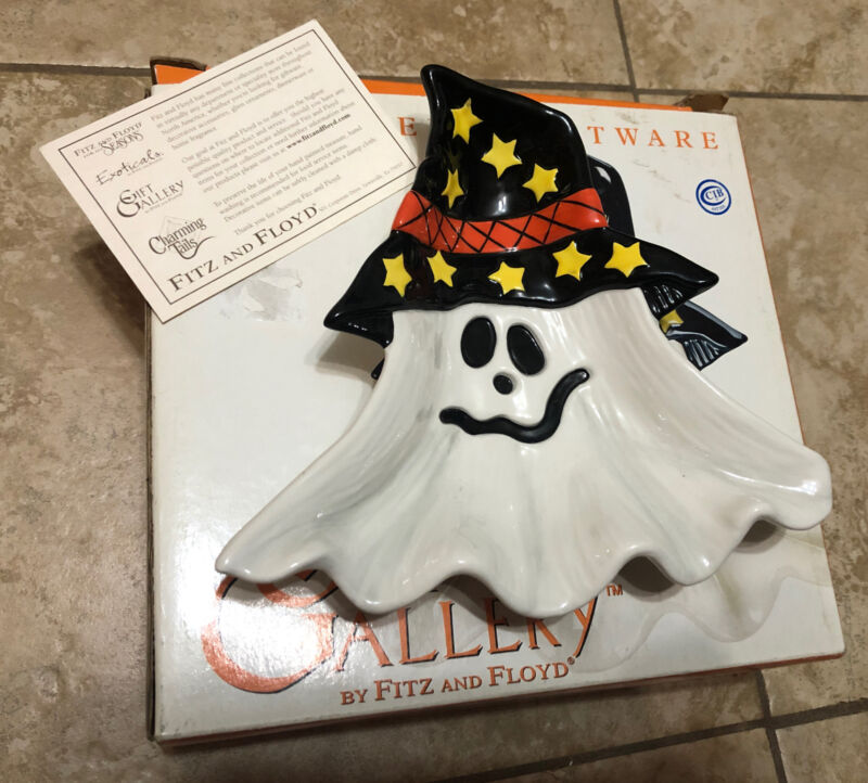 Fitz and Floyd Halloween GHOST Dish