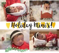 75$ HOLIDAY MINI PROFESSIONAL NEWBORN AND KIDS SESSIONS