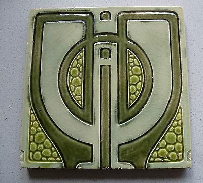 Jugendstil Fliese Kachel art nouveau tile tegel carreau Helman Le Glaive