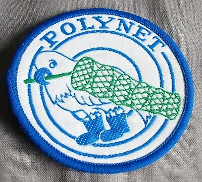 POLYNET, CLOTH EMBROIDERED FISHING/ANGLING PATCH, VERY RARE, UNUSED.