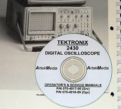 Tektronix 2430 O-scope Operating Service Manuals 2