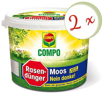 Savings Set: 2 X Compo Lawn Fertilizer Moss - No Thanks 7,5 KG
