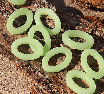 Oval Ring Bead, Opaque Sea Foam Green w/Frosted Matte Finish, 22 x 16 mm, 2 Pcs