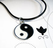 Silver Ying Yang Necklace