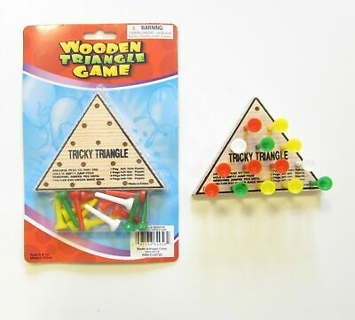 Wooden Tricky Triangle Brain Teaser IQ Challange Travel Game